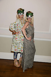 Left to right, RUTH POWYS and MARY POWYS they run Elephant Family at the The Animal Ball – Masking Up Moment held at the Quintessentially Ballrooms, 29 Portland Place, London W1 on 10th June 2013.