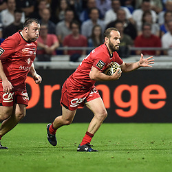 Frederic Michalak of Lyon during the Top 14 semi final match between Montpellier Herault Rugby and Lyon on May 25, 2018 in Lyon, France. (Photo by Alexandre Dimou/Icon Sport)