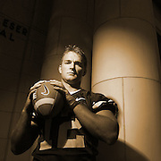 3RD CHOICE INSIDE----John Beck BYU quarterback portrait shoot on the BYU campus Maeser Building in Provo, Utah Wednesday August 2, 2006.  August Miller/Deseret Morning News