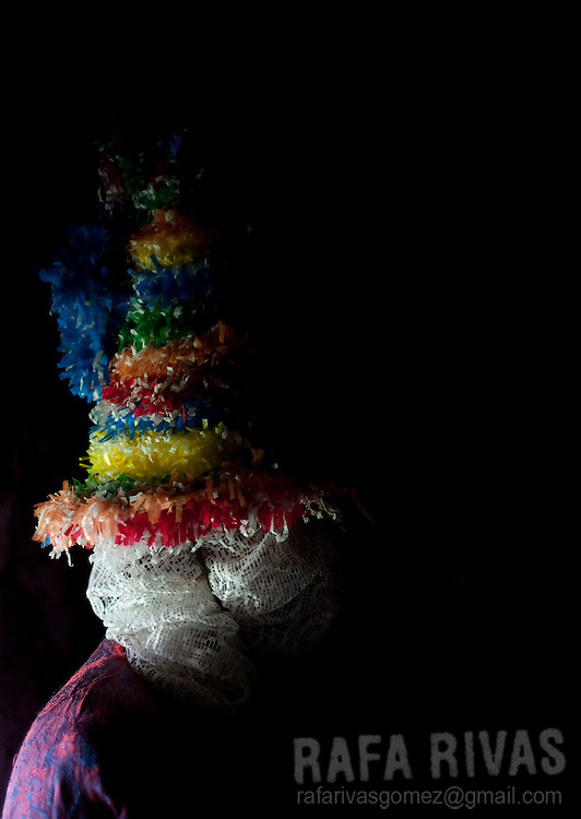 A woman dressed up as a Txatxo takes part in the ancient carnival of Lantz, in North of Navarra province in Spain, on March 8, 2011. Photo Rafa Rivas