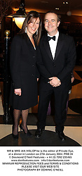 MR & MRS IAN HISLOP at the 2003 Whitbread Book Award dinner held at  the Brewery, Chiswell Street, London EC1 on 27th January 2004.