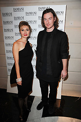 SILVIA DAMIANI and MARK FAST at a dinner hosted by jewellers Damiani at The Connaught Hotel, London on 3rd February 2010.