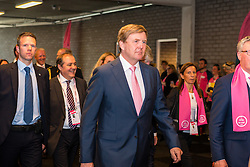 King Willem-Alexander of The Netherlands before the start at velodrome Omnisport, stage 1 (ITT) from Apeldoorn to Apeldoorn running 9,8 km of the 99th Giro d'Italia (UCI WorldTour), The Netherlands, 6 May 2016. Photo by Pim Nijland / PelotonPhotos.com | All photos usage must carry mandatory copyright credit ( Peloton Photos | Pim Nijland)