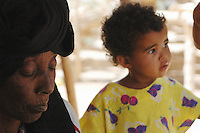 Niger, Agadez, Tidene, 2007. In a Tuareg settlement, young and old share their lives in public.  Rissa Ixa's family lives in a group of three camps.