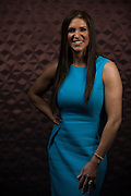 Stephanie McMahon poses for a portrait ahead of WrestleMania on April 1, 2016 in Dallas, Texas.