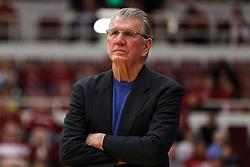 February 26, 2011; Stanford, CA, USA;  Oregon Ducks head coach Paul Westhead on the sidelines against the Stanford Cardinal during the first half at Maples Pavilion.