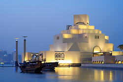 Exterior view of Museum of Islamic Art in Doha Qatar, Architect IM Pei