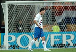 25-06-2006 VOETBAL: FIFA WORLD CUP: NEDERLAND - PORTUGAL: NURNBERG<br /> Oranje verliest in een beladen duel met 1-0 van Portugal en is uitgeschakeld / VENNEGOOR OF HESSELINK Jan <br /> ©2006-WWW.FOTOHOOGENDOORN.NL