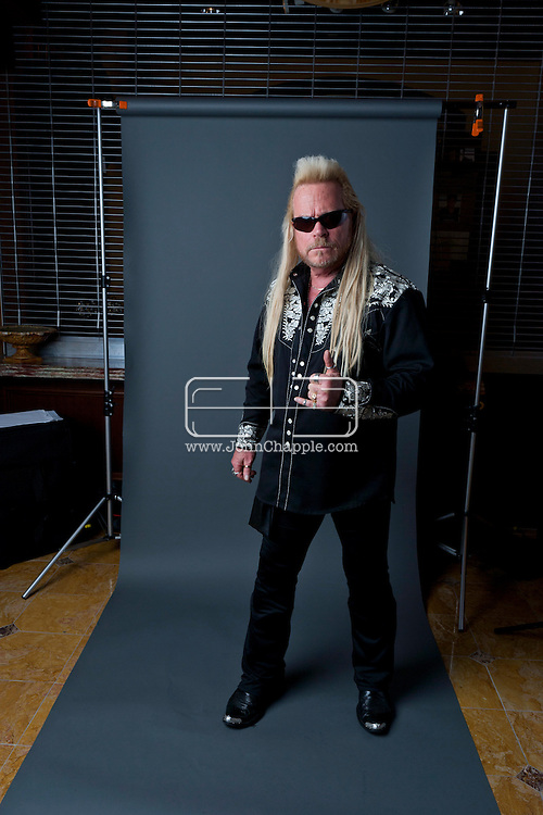 24th February 2011. Las Vegas, Nevada.  Celebrity Impersonators from around the globe were in Las Vegas for the 20th Annual Reel Awards Show. Pictured is K-Nine as Dog the bounty hunter. Photo © John Chapple / www.johnchapple.com..