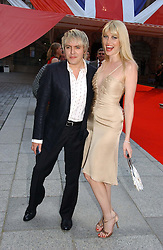 Musician NICK RHODES and Model MEREDITH OSTROM at the Royal Academy of Art's SUmmer Party following the official opening of the Summer Exhibition held at the Royal Academy of Art, Burlington House, Piccadilly, London W1 on 7th June 2006.<br />