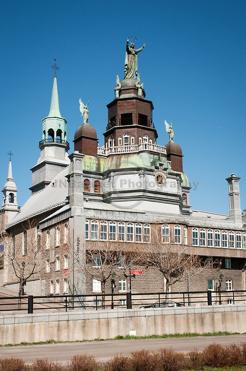 Historical site of Notre-Dame-de-Bon-Secours chapel in Montreal, Qc Canada