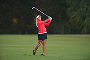 Emily Pedersen during the final round of Stage 3 of LPGA Q-School on the Hills Course at LPGA Internation in Daytona Beach, Florida on Dec. 4, 2016.<br /> <br /> <br /> ©2016 Scott A. Miller