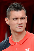 Dejan Lovren during the Barclays Premier League match between Stoke City and Liverpool at the Britannia Stadium, Stoke-on-Trent, England on 9 August 2015. Photo by Alan Franklin.