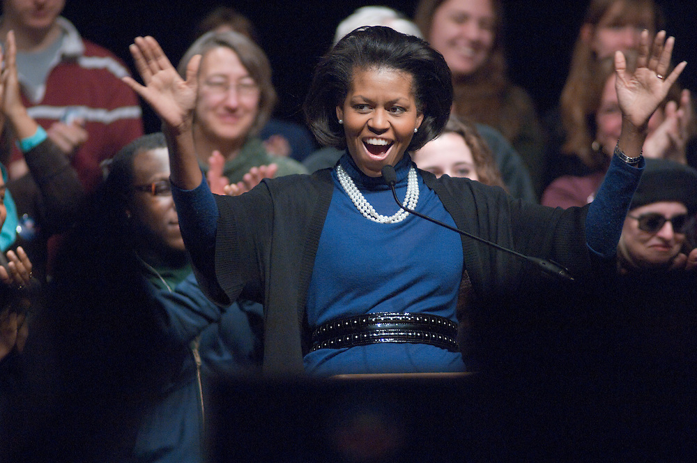 18582Mrs. Obama visits Ohio University at Templeton-Blackburn Memorial Auditorium on Feb. 28th, 2008...Mrs. Obama
