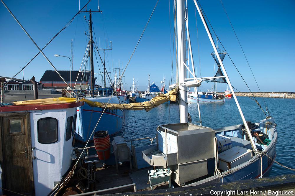 Østerby havn, Læsø fiskekutter ligger i havnen. fiskeri fiskeriredskaber.Foto: © Lars Horn / Baghuset. .Date : 11.03.12