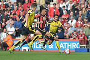 AFC Bournemouth's striker Joshua King leads the attack for Bournemouth again during the Barclays Premier League match between Bournemouth and Watford at the Goldsands Stadium, Bournemouth, England on 3 October 2015. Photo by Mark Davies.