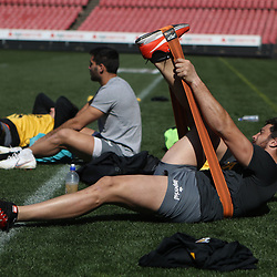 Javier Ortega Desio of the Jaguares during the Jaguares Captain's Run at the Emirates Airlines Park Stadium,Johannesburg, South Africa. 20,07,2018 (Photo by  Steve Haag Jaguares)