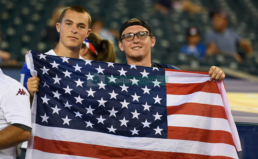 July 19, 2017 - Philadelphia, PA, USA - Philadelphia, PA - Wednesday July 19, 2017: USA supporters during a 2017 Gold Cup match between the men's national teams of the United States (USA) and El Salvador (SLV) at Lincoln Financial Field. (Credit Image: © Brad Smith/ISIPhotos via ZUMA Wire)