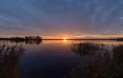 Sunset, zonsondergang Wijde Blik, Kortenhoef, Wijdemeren, Noord Holland, Netherland
