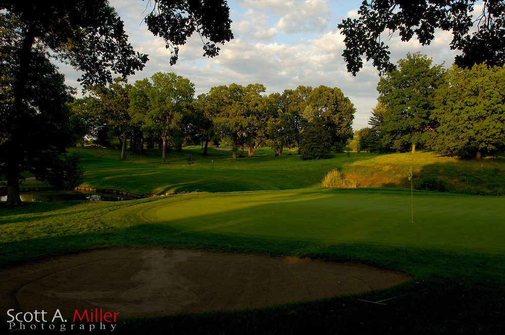 Hole No. 17 at Hazeltine National Golf Club..                ©2006 Scott A. Miller