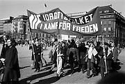 Första maj demonstration i Kungsträdgården