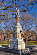 Ether fountain to commemorate the use of ether as an anesthetic at the Massachusetts General Hospital
