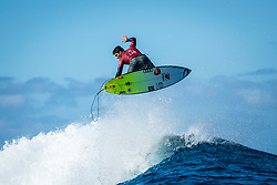 Gabriel Medina (BRA) advanced to Semis after placing 1st in  Quarters 3 at the Tahiti Pro 2018 ,Teahupoo, French Polynesia