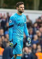 Football - 2016 / 2017 Premier League - Tottenham Hotspur vs. Leicester City<br /> <br /> Hugo Lloris of Tottenham frowns as the final whistle goes at White Hart Lane.<br /> <br /> COLORSPORT/DANIEL BEARHAM