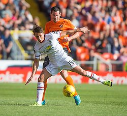 Inverness Caledonian Thistle's Danny Williams  and Dundee United&rsquo;s Ryan McGowan. <br /> Dundee United 1 v 1 Inverness Caledonian Thistle, SPFL Ladbrokes Premiership game played 19/9/2015 at Tannadice.
