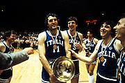Europei Francia 1983 - Nantes: Dino Meneghin, Renzo Vecchiato medaglia d'oro