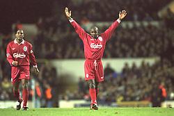 London, England - Monday, December 2, 1996: Liverpool's goal scorer Michael Thomas during the 2-0 Premier League victory over Tottenham Hotspur at White Hart Lane. (Pic by David Rawcliffe/Propaganda)