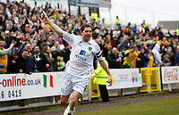 Photo: Richard Lane/Richard Lane Photography. Swindon Town v Norwich City. Coca-Cola Football League One. 20/03/2010. Norwich's Grant Holt celebrates his goal.