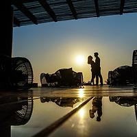 Sally & Andy's engagement portrait at the Now Amber Resort, Puerto Vallarta, Mexico. Photo by: Juan Carlos Calderón.