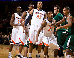 The Virginia Cavaliers faced the South Florida Bulls at the University of Virginia's John Paul Jones Arena  in Charlottesville, VA on November 19, 2008.The Virginia Cavaliers defeated the South Florida Bulls 77-75 at the University of Virginia's John Paul Jones Arena in Charlottesville, VA on November 19, 2008.
