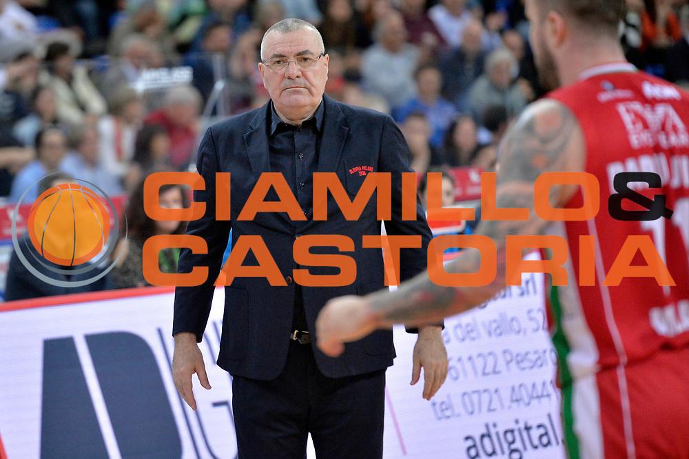 Jasmin Repesa<br /> Consultinvest Victoria Libertas Pesaro - EA7 Emporio Armani Olimpia MIlano<br /> Lega Basket Serie A 2016/2017<br /> Pesaro, 30/04/2017<br /> Foto M.Ceretti / Ciamillo - Castoria