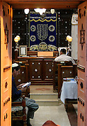 Israel, Jerusalem, Nachlaot, Selihot, forgiveness, the nightly prayers before Rosh Hashana, Jews praying Inside of a synagogue,