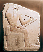 Thoth, Ibis-headed god of the Moon, patron of scribes and magicians, secretary of the gods. Limestone relief, 5th-6th Dynasty