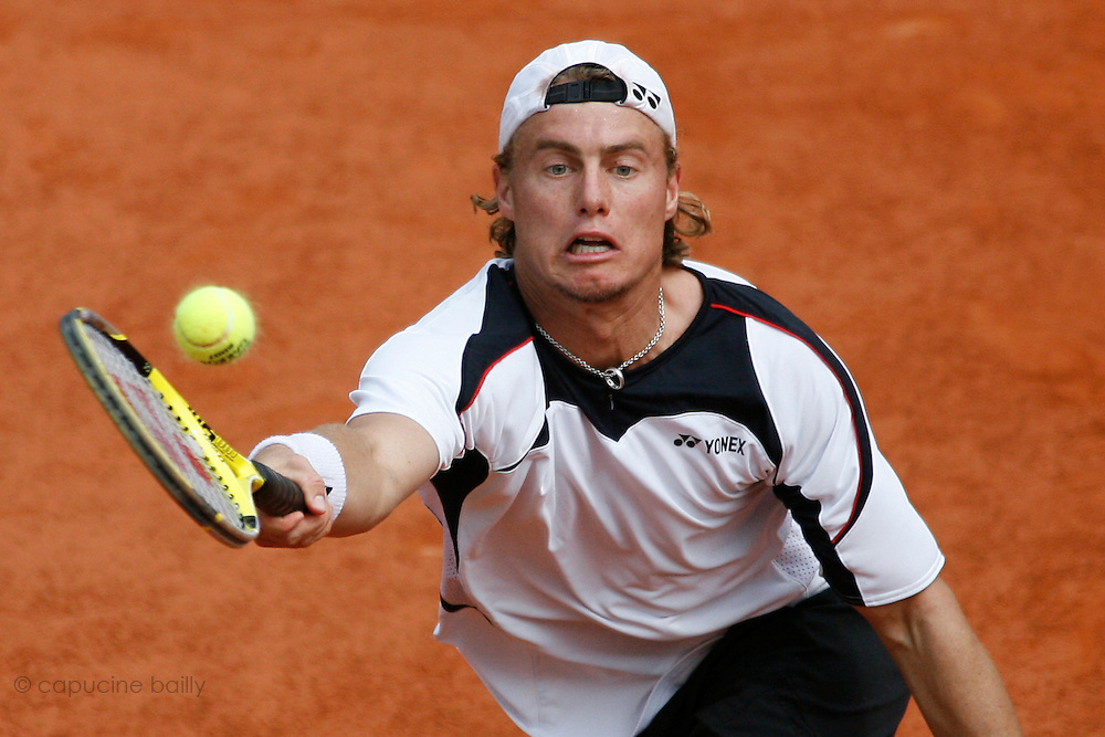 Roland Garros. Paris, France. June 4th 2007..Lleyton HEWITT against Rafael NADAL..