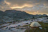 Titcomb Basin backcountry camp, Bridger Wilderness, Wind River Range Wyoming
