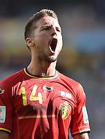 FUSSBALL WM 2014  VORRUNDE    Gruppe H     Belgien - Algerien                       17.06.2014 Dries Mertens (Belgien) emotional