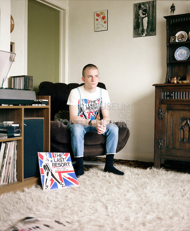 Neville Listening to Last Resort Record in the Front Room, 16 Hawthorne Road, Hight Wycombe, UK, 1980s