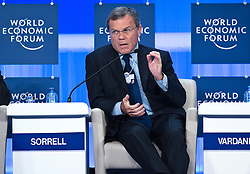 Sir Martin Sorrell, chief executive officer of WPP, speaks during the World Economic Forum in Brussels, Monday May 10, 2010. (Photo © Jock Fistick)