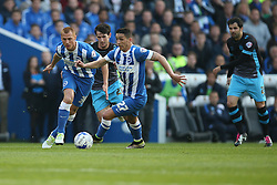 Anthony Knockaert of Brighton & Hove Albion puts Sheffield Wednesday under pressure - Mandatory by-line: Jason Brown/JMP - 16/05/2016 - FOOTBALL - Amex Stadium - Brighton, England - Brighton and Hove Albion v Sheffield Wednesday - Sky Bet Championship Play-off Semi-final second leg