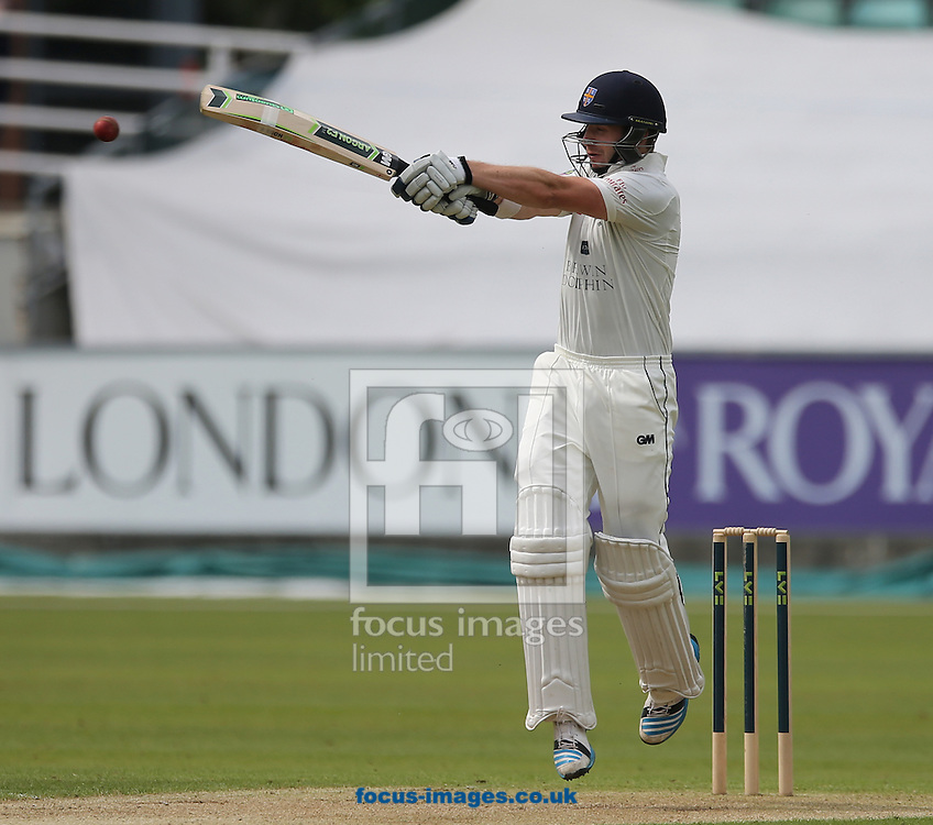 Mark Stoneman of Durham County Cricket Club batting during the LV County Championship Div One match at Emirates Durham ICG, Chester-le-Street<br /> Picture by Simon Moore/Focus Images Ltd 07807 671782<br /> 01/06/2014