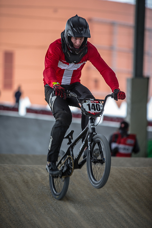 #140 (THERKELSEN Jimmi) DEN at Round 5 of the 2019 UCI BMX Supercross World Cup in Saint-Quentin-En-Yvelines, France