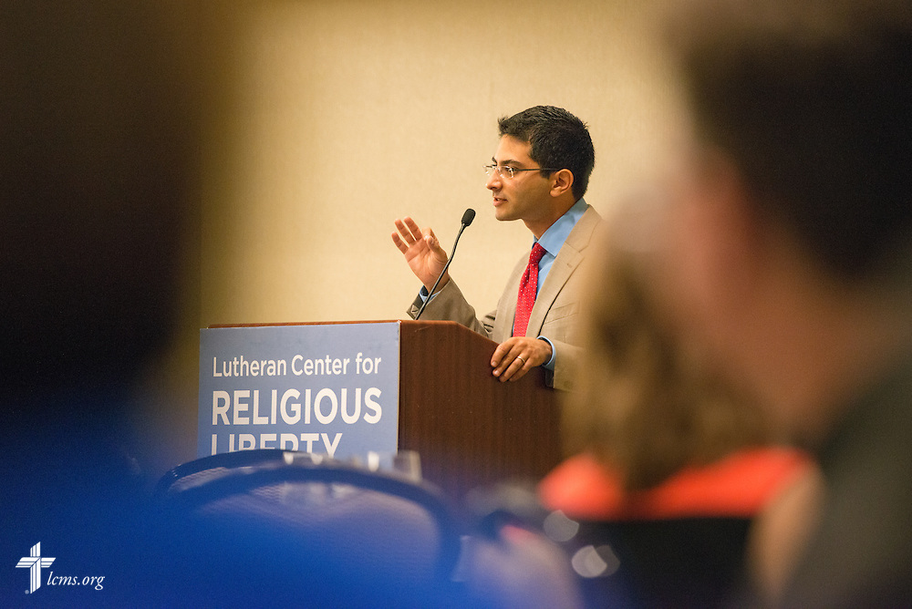 Sherif Girgis, a leading academic opponent of same-sex marriage, speaks during the Let's Talk Life, Marriage and Religious Liberty event on Wednesday, Sept. 9, 2015, in Washington, D.C. LCMS Communications/Erik M. Lunsford