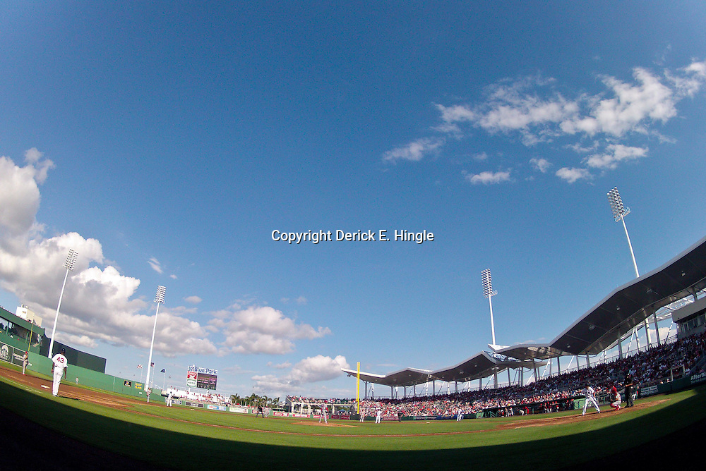 March 15, 2012; Fort Myers, FL, USA; A general view during a spring training game between the Boston Red Sox and the St. Louis Cardinals at Jet Blue Park. Mandatory Credit: Derick E. Hingle-US PRESSWIRE