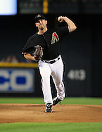 Jun. 18 2011; Phoenix, AZ, USA; Arizona Diamondbacks pitcher Zach Duke (19) delivers a pitch during the first inning against the Chicago White Sox at Chase Field. Mandatory Credit: Jennifer Stewart-US PRESSWIRE.