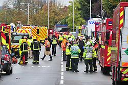 © Licensed to London News Pictures. 09/11/2016<br /> Croydon Tram OVERTURNS near Sandilands,Croydon.