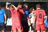 Real Sociedad's players David Zurutuza, William Jose and Asier Illarramendi during cooling break in La Liga match. August 19,2017. (ALTERPHOTOS/Acero)